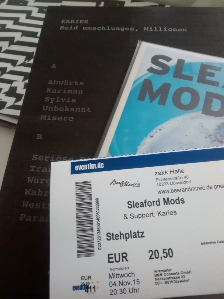 2015-11-04 SLEAFORD MODS + KARIES Ticket